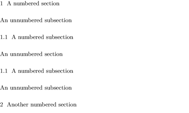 Unnumbered Sections - ConTeXt wiki